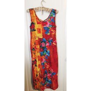 Jams World tropical bright floral maxi dress